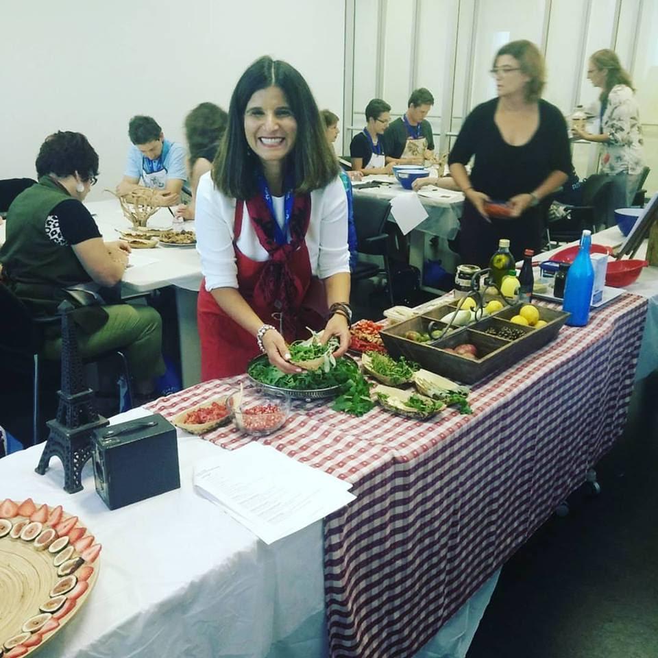 Galya at food workshop