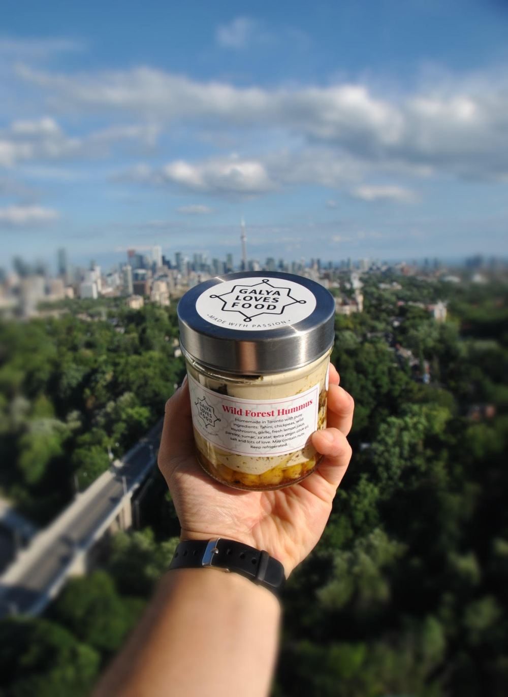 Ori M photo of jar against Toronto skyline - July 22, 2020